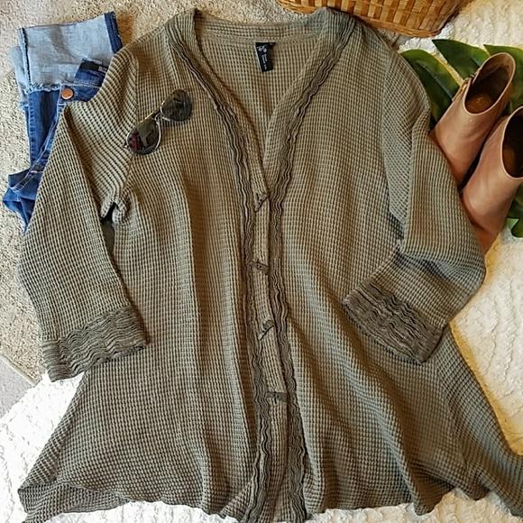 focus causal life Jackets & Blazers - Focus casual life waffle jacket tunic xl